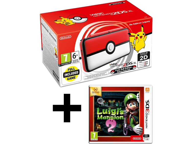 NINTENDO 2DS XL Pokeball Edition and Luigi s Mansion gaming φορητές κονσόλες κονσόλες 2ds  3ds gaming κονσόλες κονσόλες nintendo