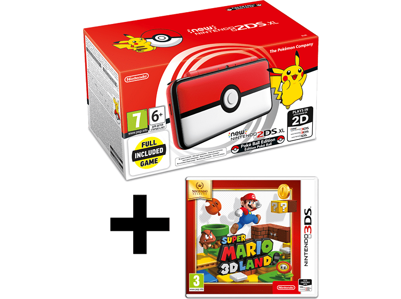 NINTENDO 2DS XL Pokeball Edition and Mario 3D Land gaming φορητές κονσόλες κονσόλες 2ds  3ds gaming κονσόλες κονσόλες nintendo