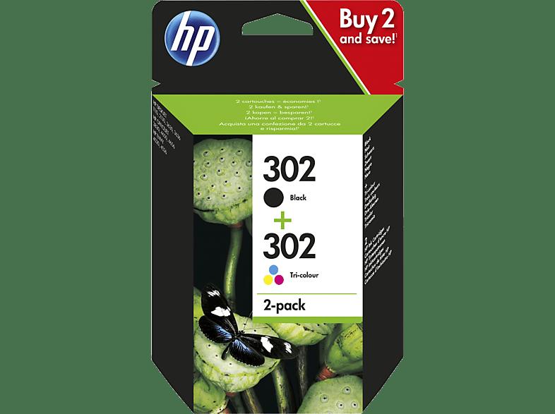 HP 302 2-pack Black/Tri-color (X4D37AE) laptop  tablet  computing  εκτύπωση   μελάνια μελάνια  toner
