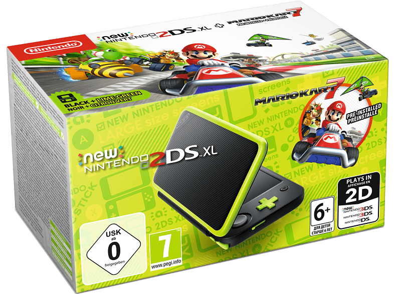 NINTENDO 2DS New XL Black and Lime Green μαζί με το Mario Kart (DLC) gaming φορητές κονσόλες κονσόλες 2ds  3ds gaming κονσόλες κονσόλες nintendo