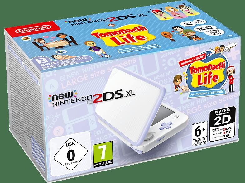 NINTENDO 2DS New XL white and Lavender μαζί με το Tomodachi Life (DLC) gaming φορητές κονσόλες κονσόλες 2ds  3ds gaming κονσόλες κονσόλες nintendo
