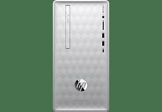 HP 590-p0022ng, PC mit Ryzen™ 3 Prozessor, 12 GB RAM, 1 TB HDD, 128 GB SSD, Radeon™ Vega 8, 2 GB