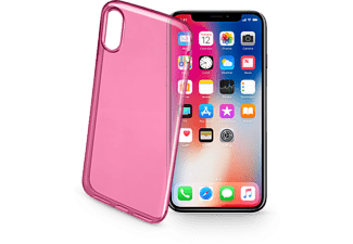 Cellularline COLORCIPH8P iPhone Backcover Geschikt voor model (GSMs): Apple iPhone X Roze (transpara