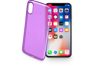 Cellularline COLORCIPH8V iPhone Backcover Geschikt voor model (GSMs): Apple iPhone X Violet (transpa