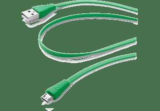 Cellular Line Data kabel, micro-usb flat, groen
