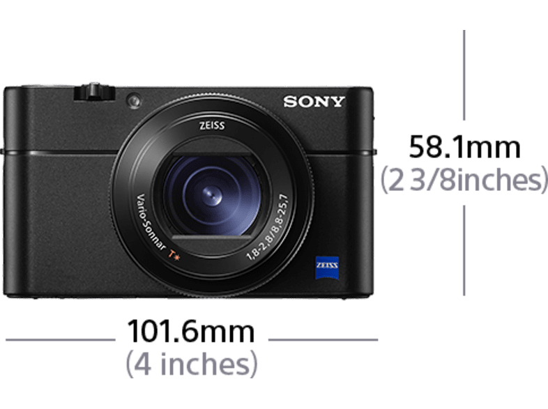 SONY DSC-RX100 VA Digitalkamera, 20.1 Megapixel, 2.9fach opt. Zoom, Schwarz