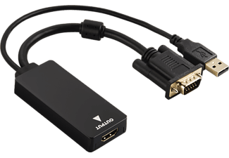 HAMA VGA HDMI adapter+USB (audio) (54547)