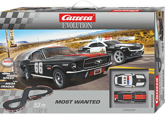 CARRERA (TOYS) EVOLUTION - Most Wanted Rennbahn, Mehrfarbig