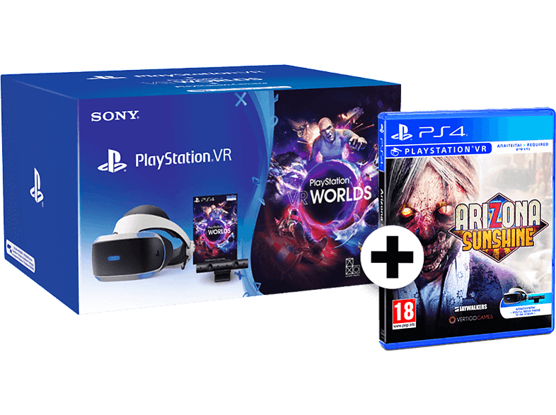 SONY PlayStation VR Headset / Camera V2 / VR Worlds μαζί με Arizona Sunshine gaming απογείωσε την gaming εμπειρία αξεσουάρ ps4