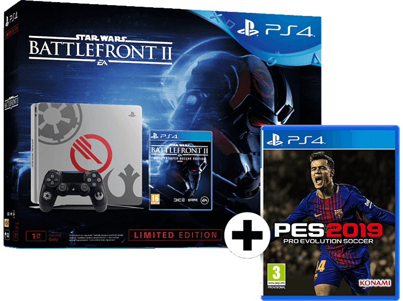 SONY PS4 1TB E Chassis Limited μαζί με Battlefront II και PES 2019 gaming κονσόλες κονσόλες ps4
