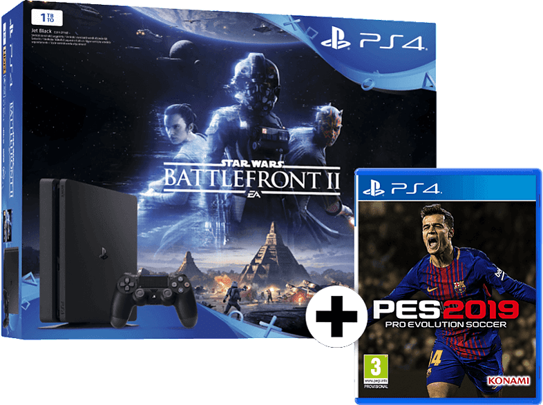 SONY PS4 1TB E Chassis μαζί με Battlefront II και PES 2019 gaming κονσόλες κονσόλες ps4