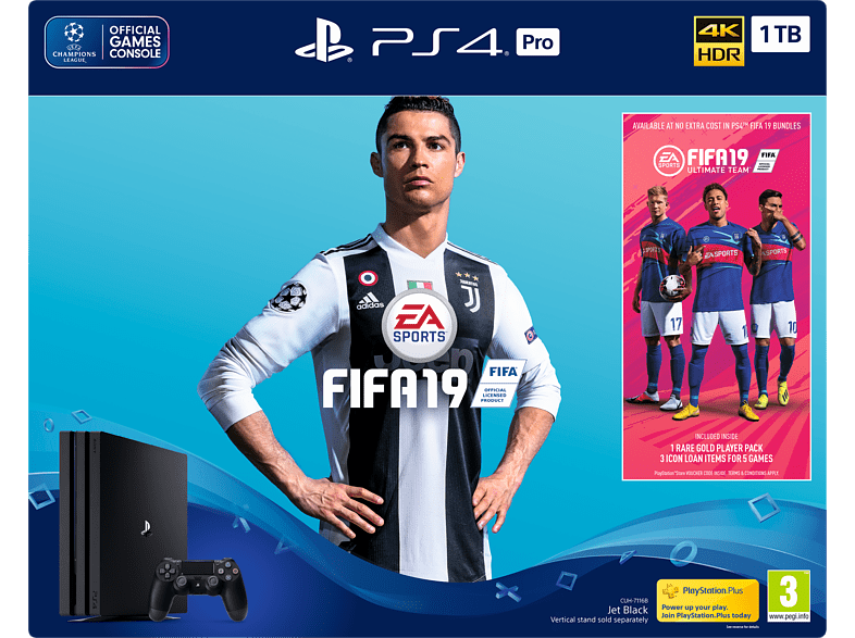 SONY PS4 1TB Pro B Chassis μαζί με PS Plus Voucher και FIFA 19 gaming κονσόλες κονσόλες ps4