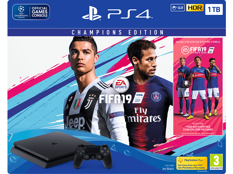 SONY PS4 1TB F Chassis μαζί με FIFA 19 Dlx και 14 Day Voucher gaming κονσόλες κονσόλες ps4