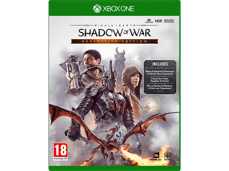 Shadow of War Definitive Edition Xbox One gaming games ps4 games
