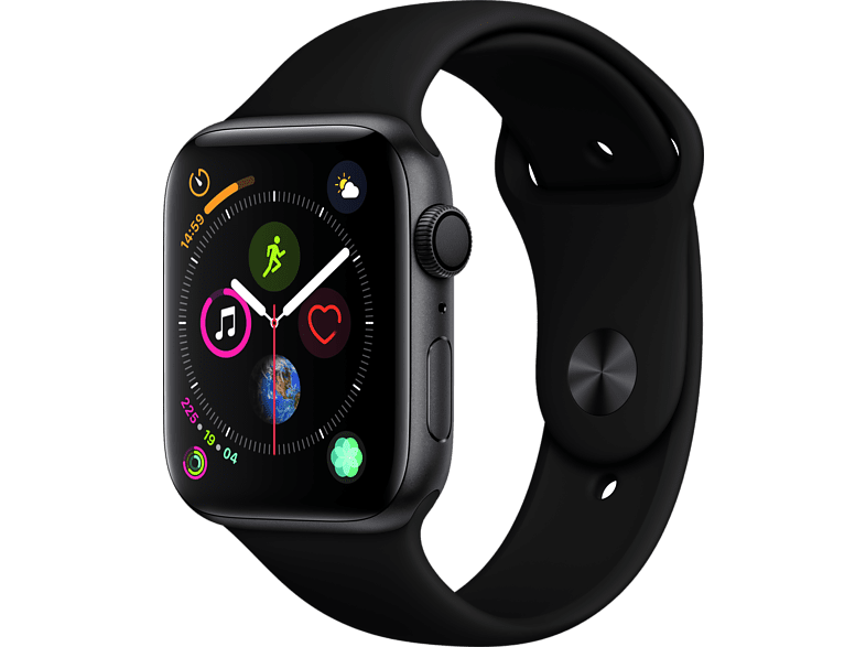 APPLE Watch Series 4 44mm Space Grey με Μαύρο Sport Band smartphones   smartliving wearables smartwatches
