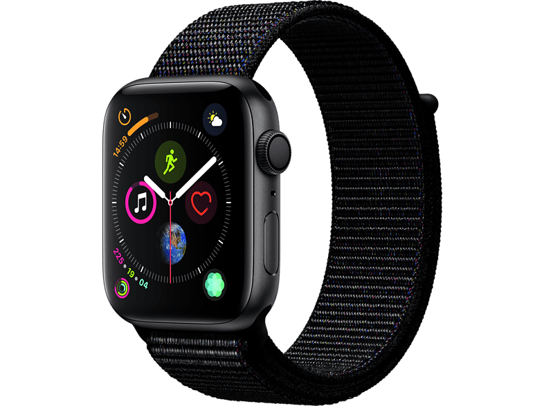APPLE Watch Series 4 44mm Space Grey με Μαύρο Sport Loop smartphones   smartliving wearables smartwatches