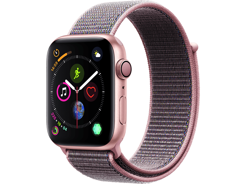 APPLE Watch Series 4 44mm Gold με Pink Sand Sport Loop smartphones   smartliving wearables smartwatches