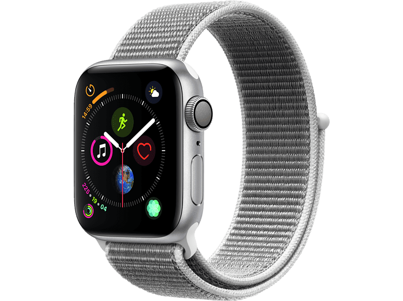 APPLE Watch Series 4 40mm Silver με Seashell Sport Loop smartphones   smartliving wearables smartwatches