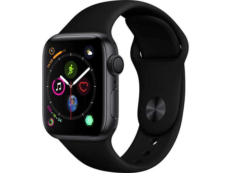 APPLE Watch Series 4 40mm Space Grey με Black Sport Band smartphones   smartliving wearables smartwatches