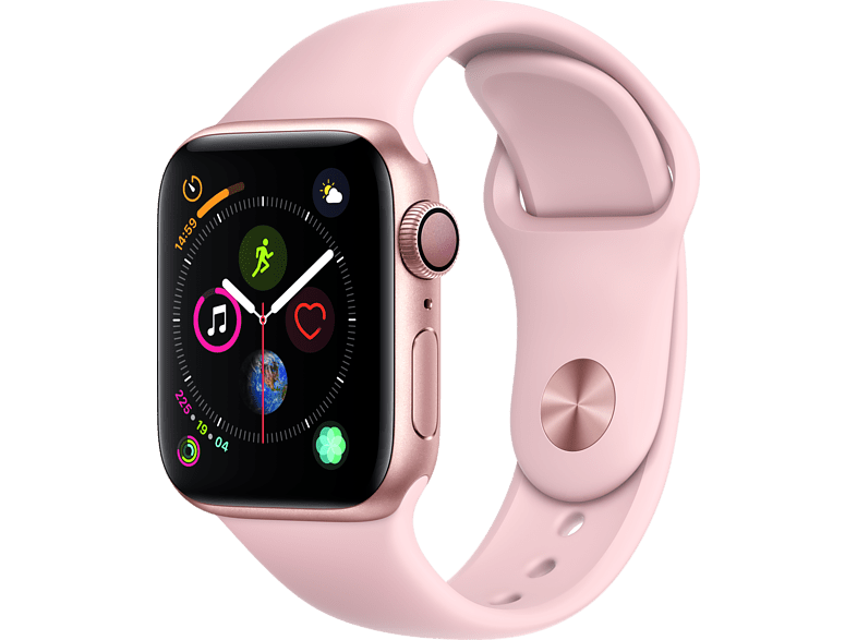 APPLE Watch Series 4 40mm Gold με Pink Sand Sport Band smartphones   smartliving wearables smartwatches