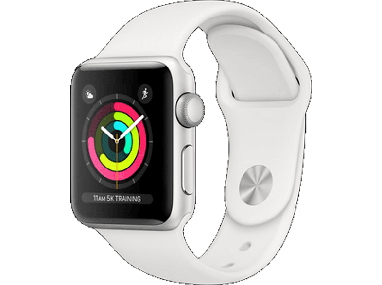 APPLE Watch Series 3 42mm Silver με Λευκό sport band smartphones   smartliving wearables smartwatches