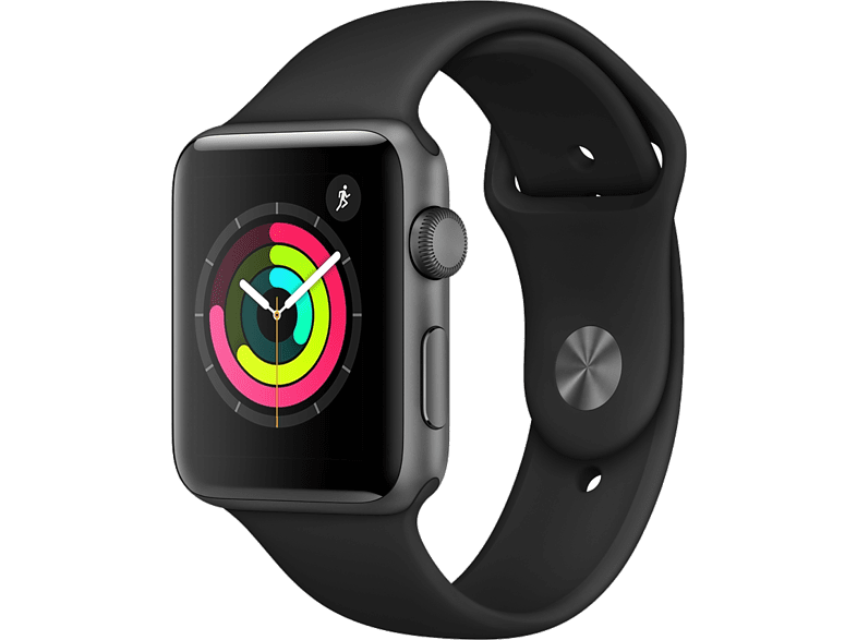 APPLE Watch Series 3 38mm Silver με Μαύρο sport band smartphones   smartliving wearables smartwatches