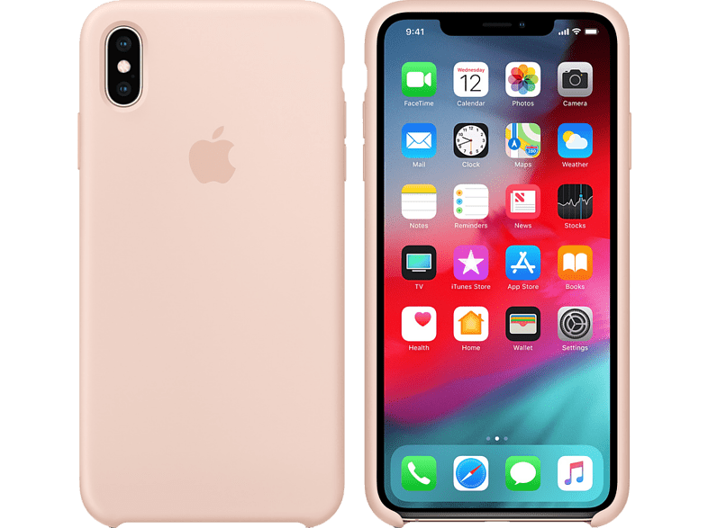 APPLE iPhone XS / Χ Silicone Case - Pink Sand smartphones   smartliving iphone θήκες iphone