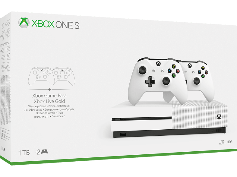 MICROSOFT Xbox One S 1TB μαζί με 2 controllers gaming κονσόλες κονσόλες xbox one