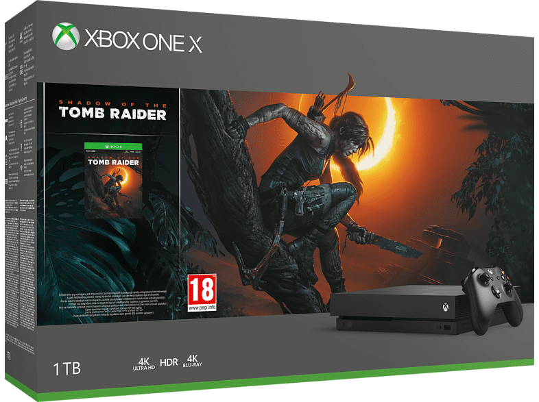 MICROSOFT Xbox One X 1TB Shadow of the Tomb Raider gaming κονσόλες κονσόλες xbox one