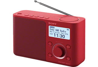 DAB+ Transistorradio Sony XDR-S61D AUX, DAB+, FM Rood