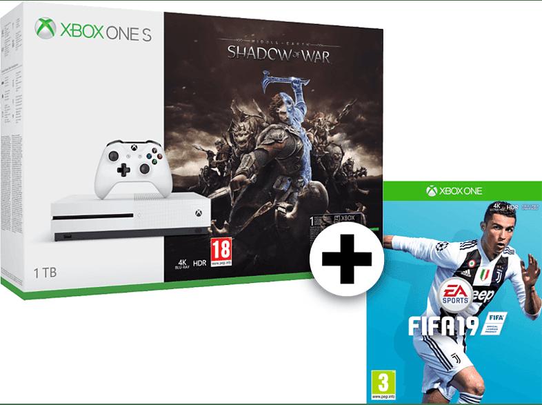 MICROSOFT Set Xbox One S 1TB Shadow Of War μαζί με Fifa 19 gaming κονσόλες κονσόλες xbox one