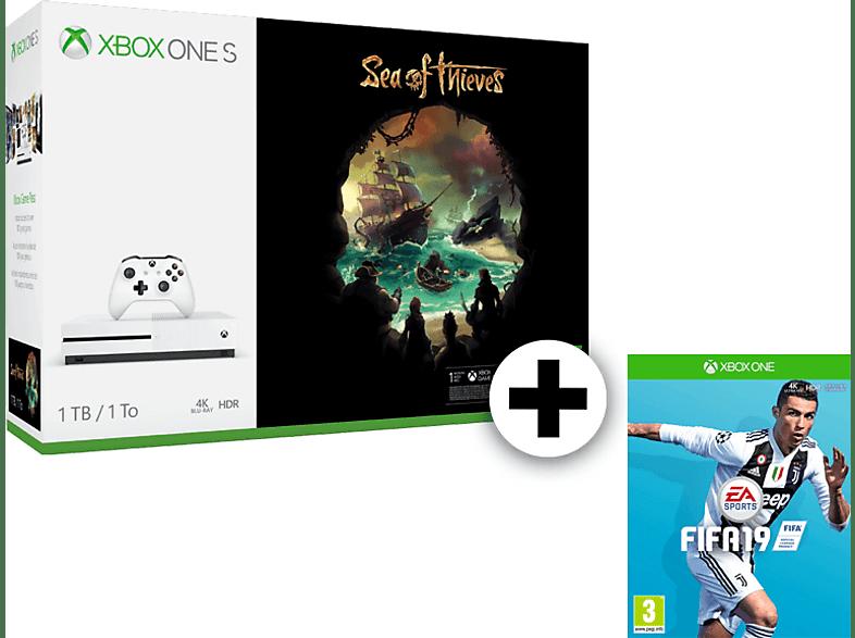 MICROSOFT Set Xbox One S 1TB Sea of Thieves μαζί με Fifa 19 gaming κονσόλες κονσόλες xbox one
