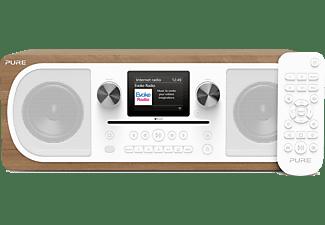 Pure Internet Tafelradio AUX, Bluetooth, CD, Internetradio, FM Spotify Hout