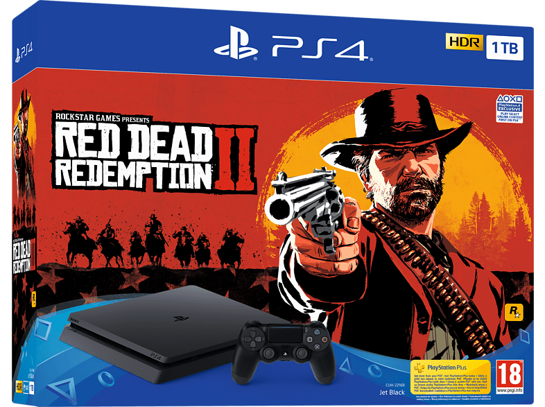 SONY PS4 1 TB G Chassis μάζι με Red Dead Redemption 2 gaming κονσόλες κονσόλες ps4