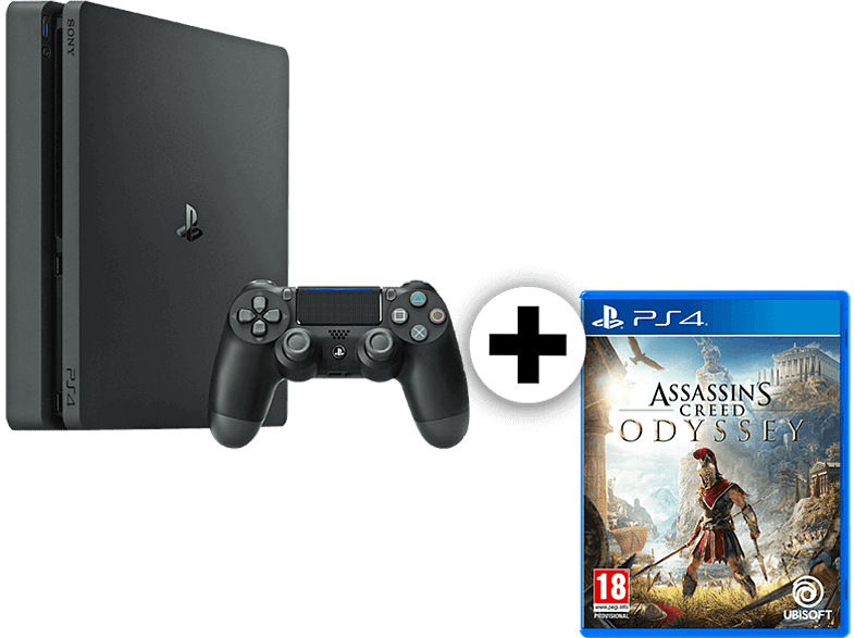 SONY Set PS4 500GB F Chassis μαζί με Assassin s Creed Odyssey gaming κονσόλες κονσόλες ps4