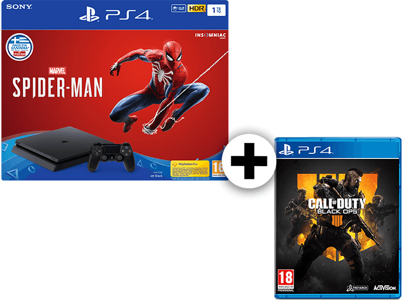 SONY Set PS4 1TB Spiderman Edition μαζί με Call Of Duty Black Ops IV gaming κονσόλες κονσόλες ps4