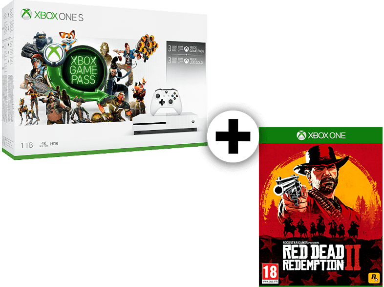 MICROSOFT Set Xbox One S 1TB Starter Bundle μαζί με Red Dead Redemption 2 gaming κονσόλες κονσόλες xbox one