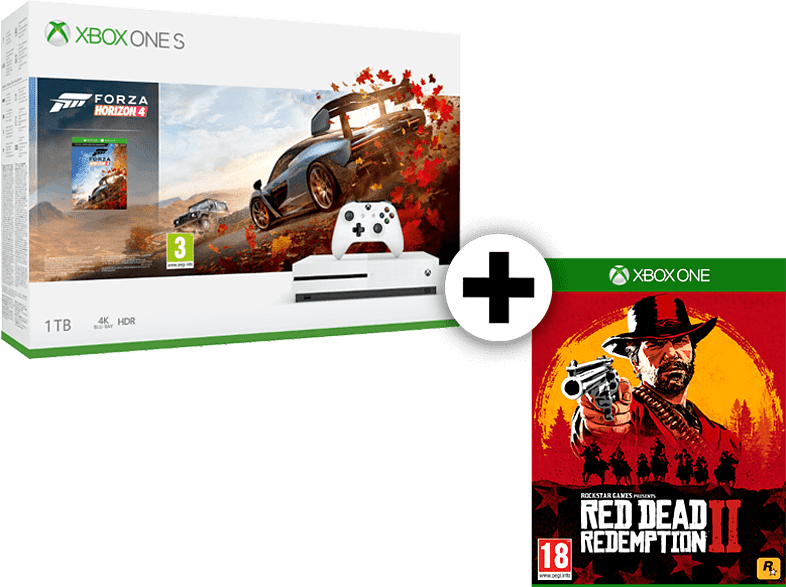 MICROSOFT Set Xbox One S 1TB Forza Horizon 4 μαζί με Red Dead Redemption 2 gaming κονσόλες κονσόλες xbox one