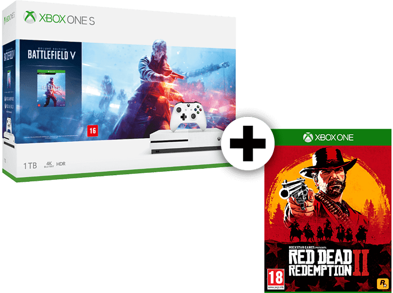 MICROSOFT Set Xbox One S 1TB Battlefield V μαζί με Red Dead Redemption 2 gaming κονσόλες κονσόλες xbox one