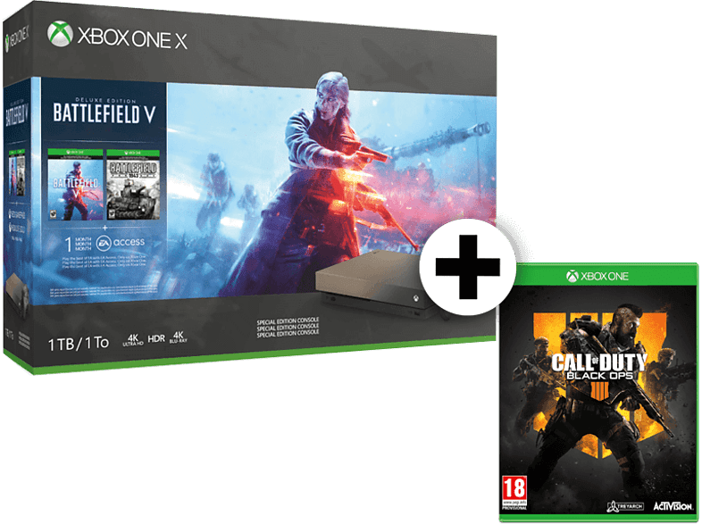 MICROSOFT Set Xbox One X 1TB Gold Rush Special Edition 1TB μαζί με Call Of Duty  gaming κονσόλες κονσόλες xbox one