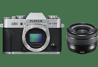 Fujifilm X-T20 systeemcamera Zilver + 15-45mm f-3.5-5.6 OIS PZ