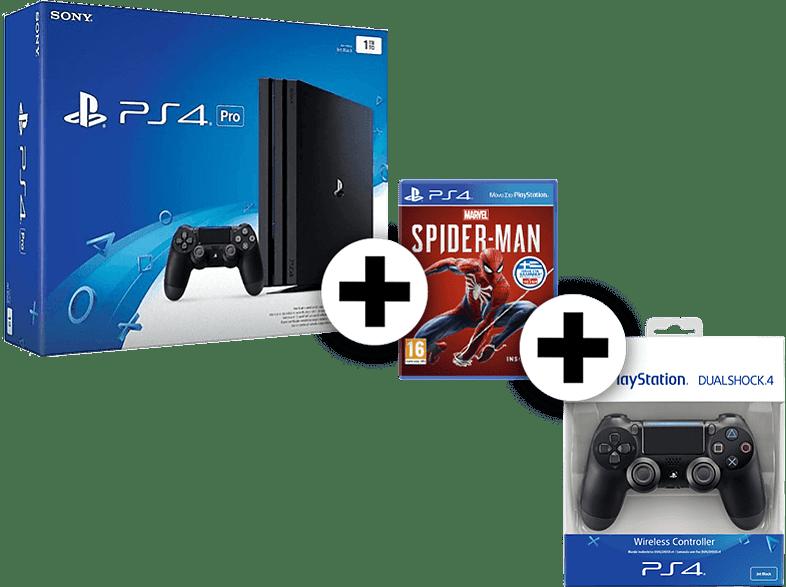 SONY SET PS4 PRO 1 TB μαζί με SPIDERMAN ST και 2ND DS4 gaming κονσόλες κονσόλες ps4