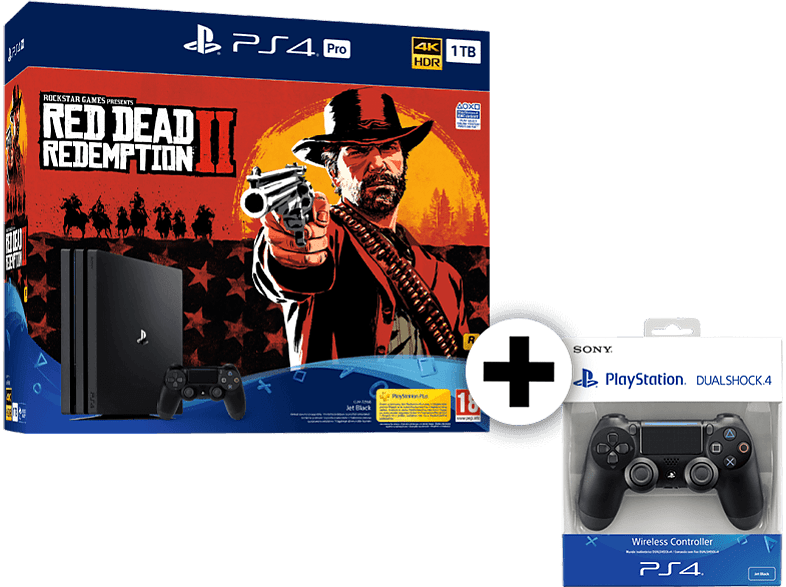 SONY SET PS4 PRO 1 TB μαζί με RDR 2 και 2ND DS4 gaming κονσόλες κονσόλες ps4
