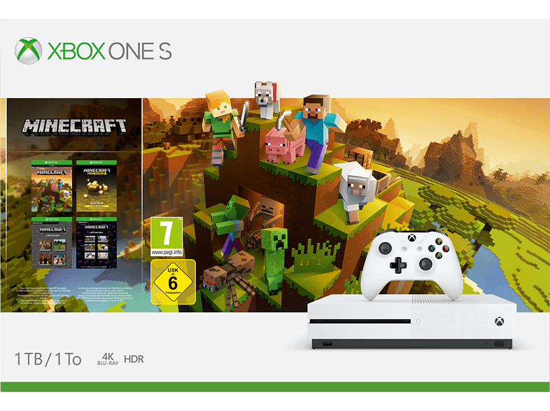 MICROSOFT Xbox One S 1TB Minecraft Creators Pack gaming κονσόλες κονσόλες xbox one