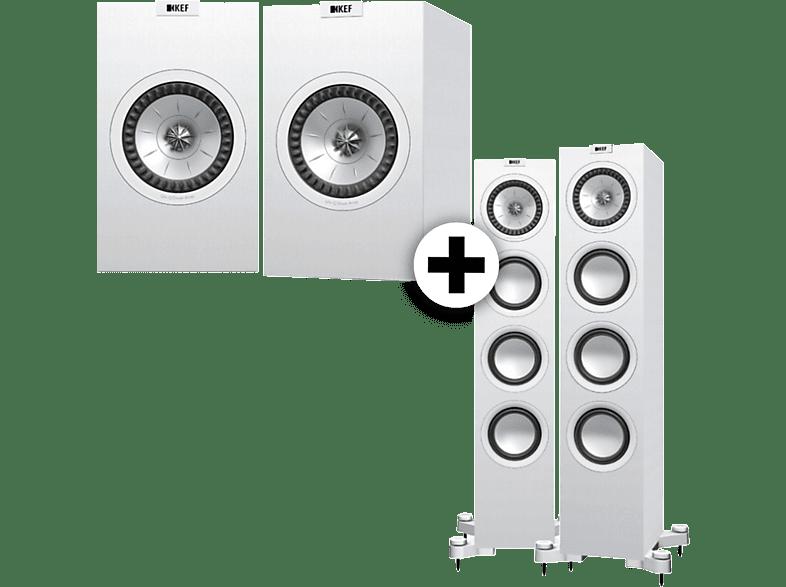 KEF Set Q 550 μαζί με Q 150 White τηλεόραση   ψυχαγωγία ήχος ηχεία hi fi