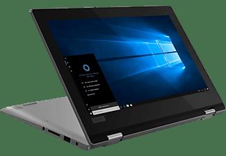 LENOVO Yoga 330, Convertible, Pentium® Silver Prozessor, 4 GB RAM, 128 GB SSD, Intel UHD-Grafik 605, Mineral Grey