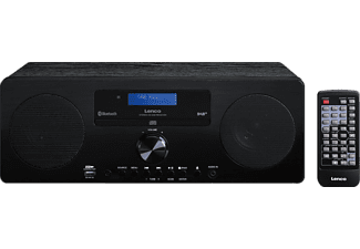 DAB+ Tafelradio Lenco DAR-060 AUX, Bluetooth, CD Zwart