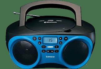 Lenco SCD-501 FM CD-radio AUX, Bluetooth, CD, FM, USB Blauw, Zwart