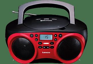 Lenco SCD-501 FM CD-radio AUX, Bluetooth, CD, FM, USB Rood, Zwart