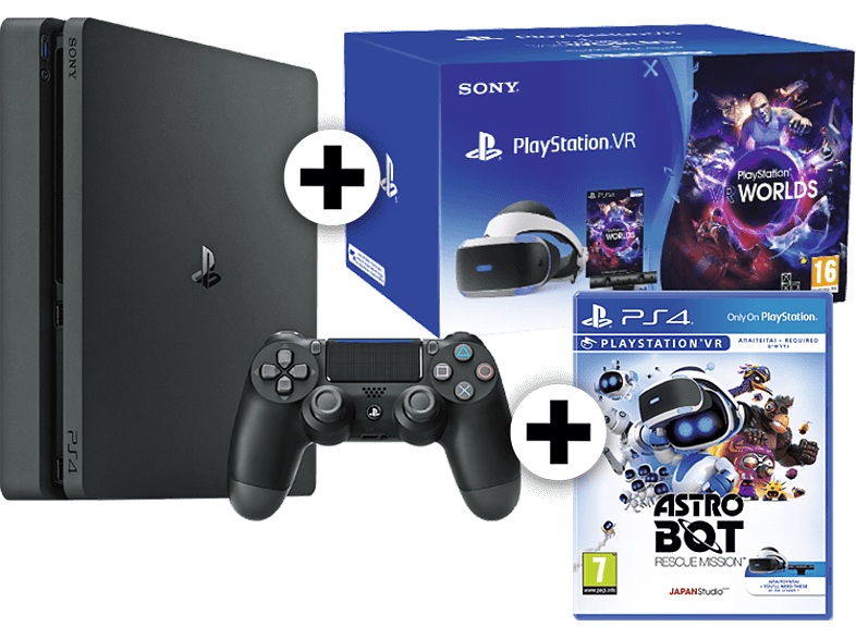SONY PS4 500GB F Chassis μαζί με σετ PlayStation VR, Camera V2, Worlds VR και As gaming κονσόλες κονσόλες ps4